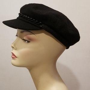 Eugenia Kim Black Cashmere Cap